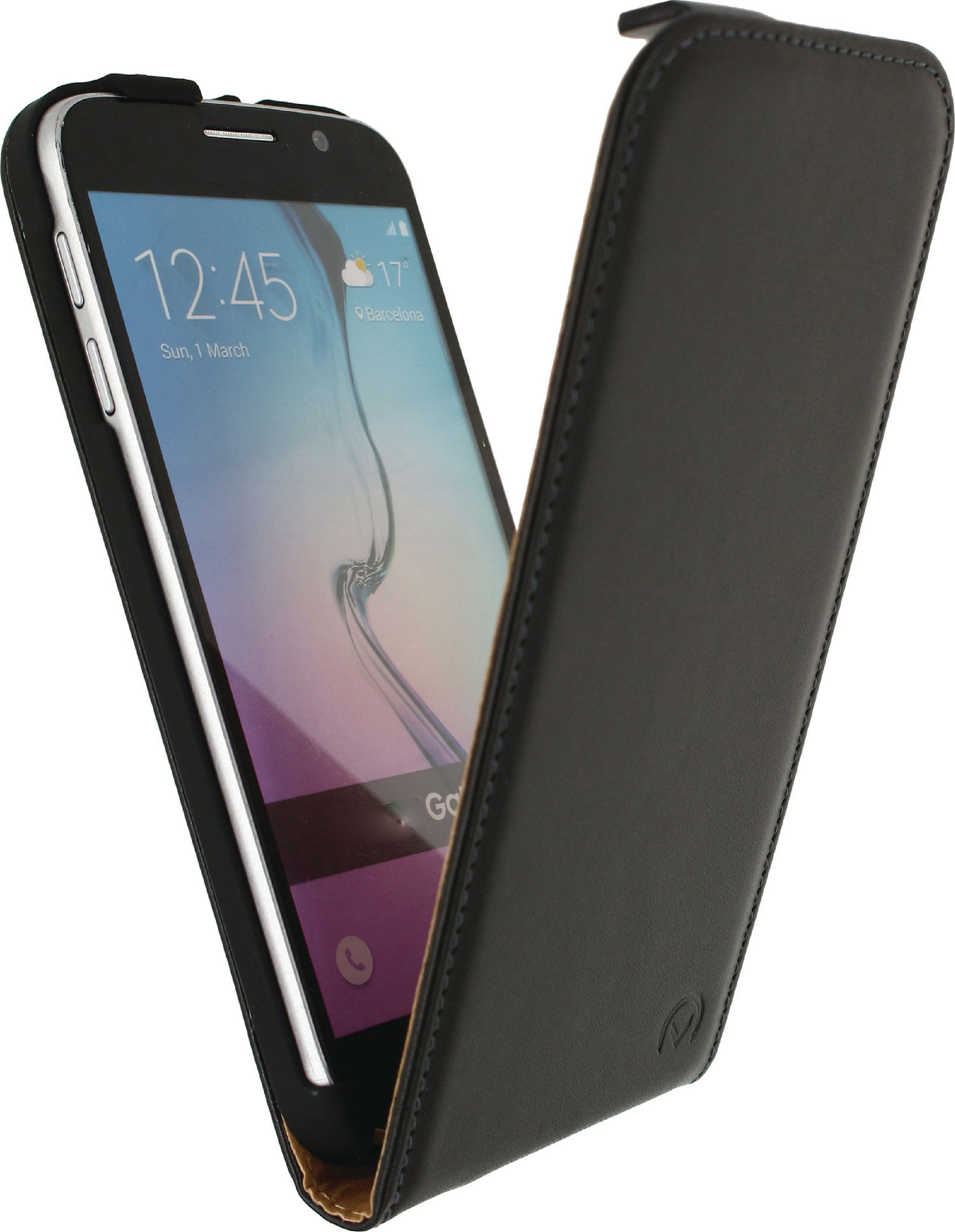 Image of   Telefon Klassisk Vippeetui Samsung Galaxy S6 Sort