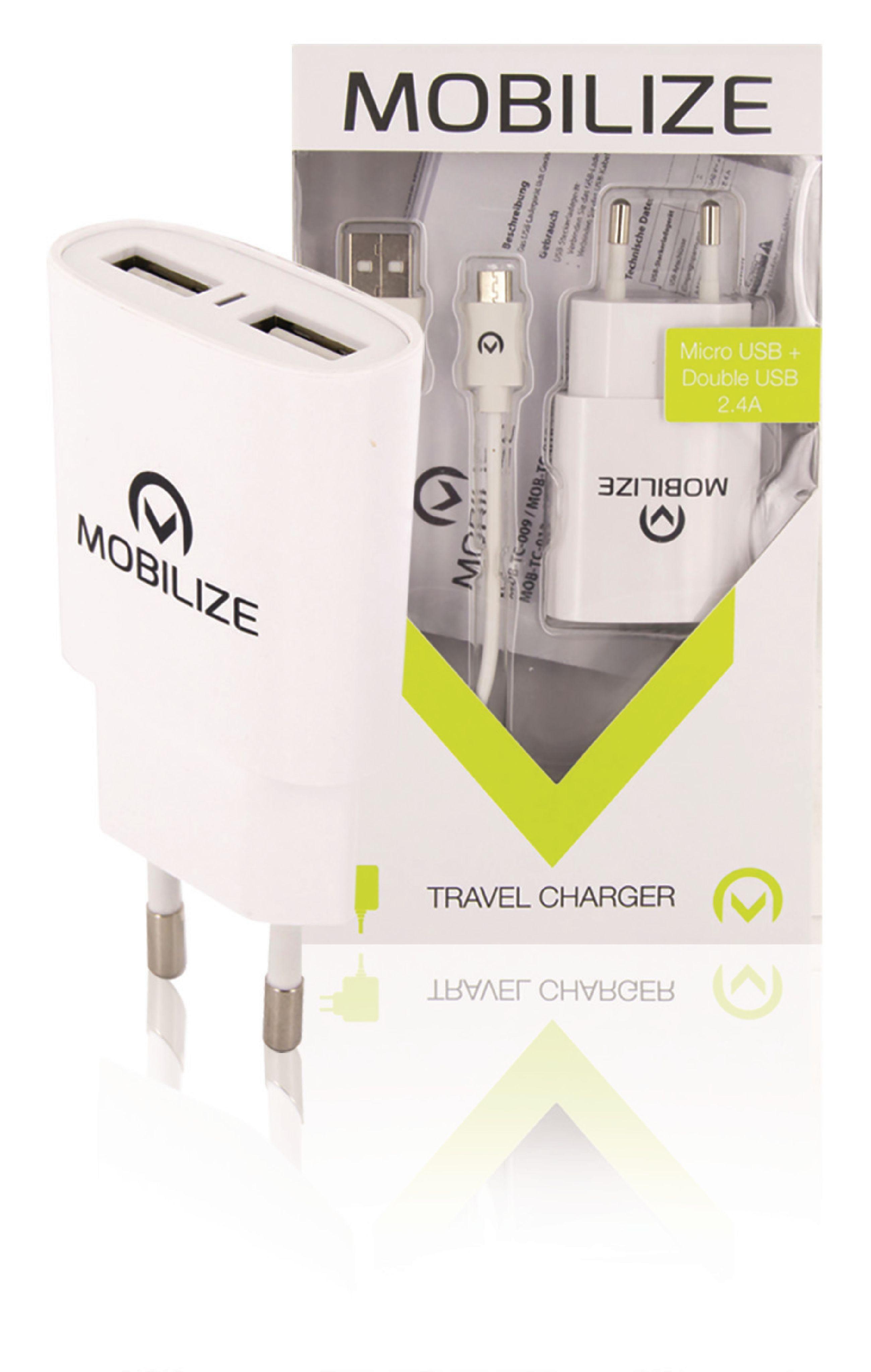 Billede af Universal Ac Power Adapter USB / Micro USB Hvid