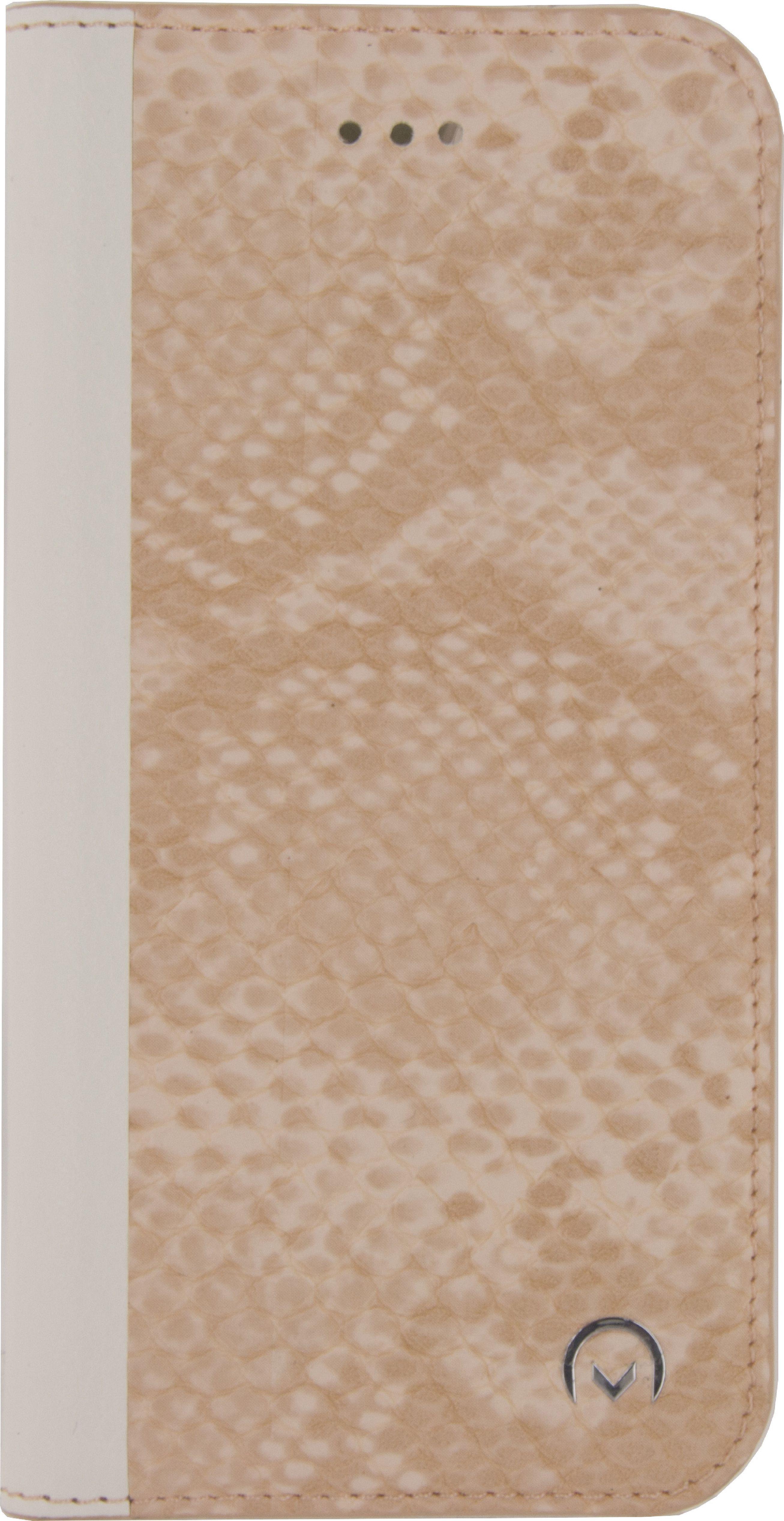 Image of   Telefon Premium Blødt Bogetui Samsung Galaxy S7 Slange, Lys Fersken