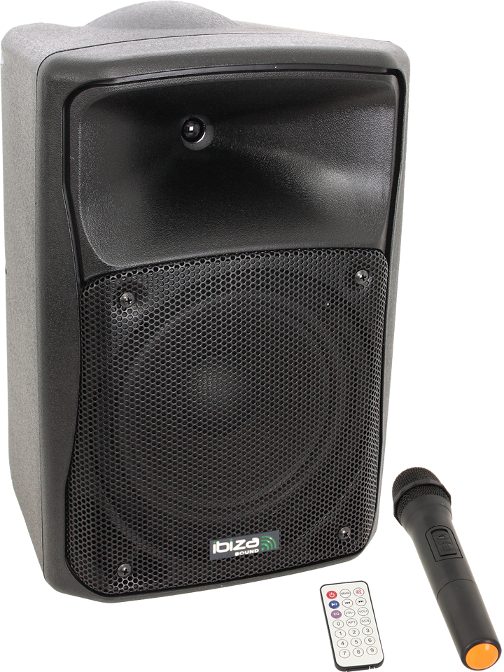 """Image of   STAND-ALONE PORTABLE SOUND SYSTEM WITH CD, USB, SD, BLUETOOTH & 1 VHF MIC – 8""""/20cm 150W"""