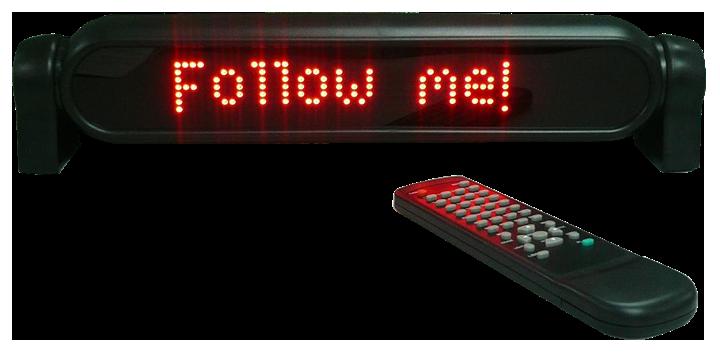 Billede af LED lysskilt med fjernbetjening