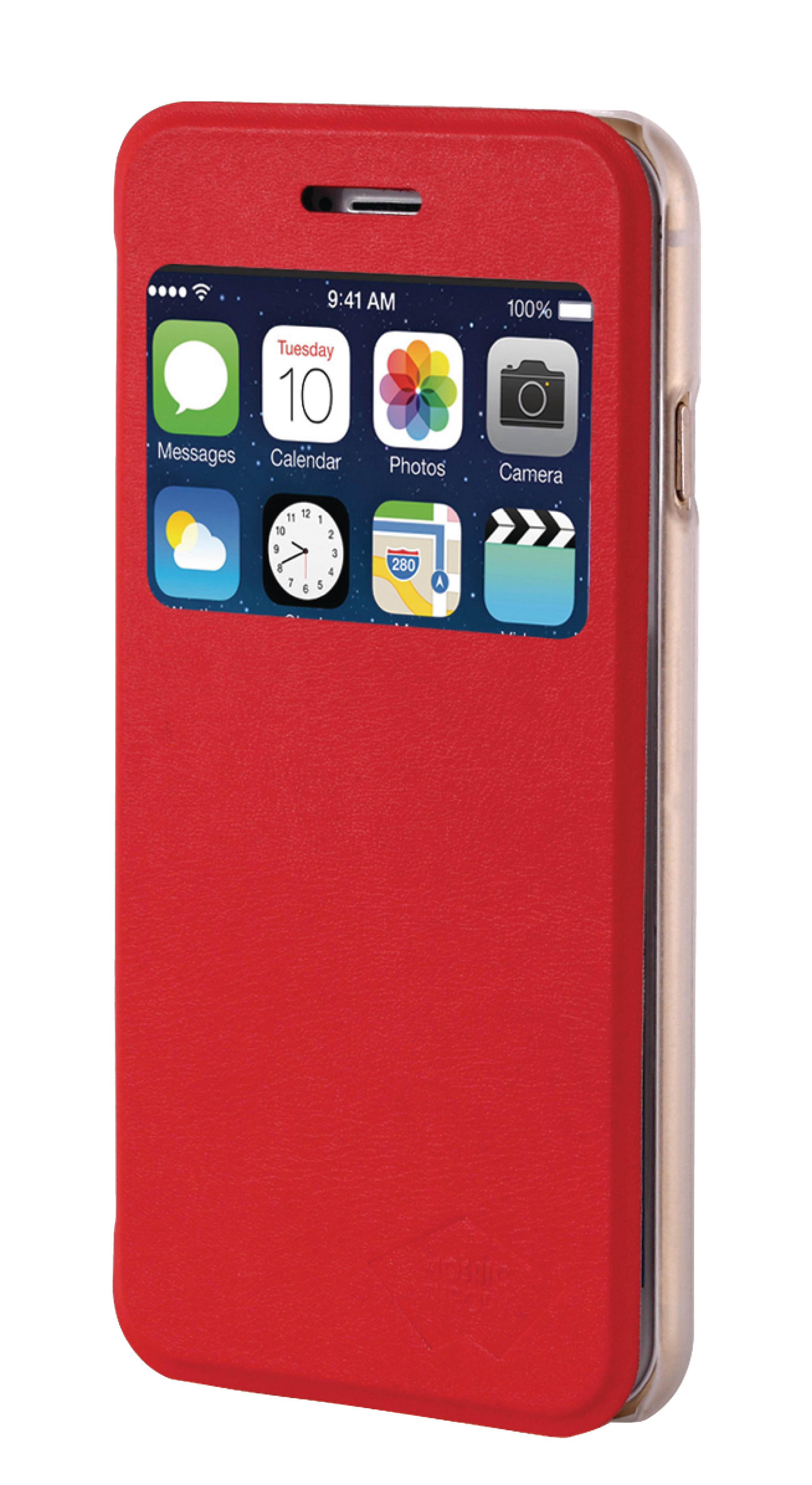 Image of   Telefon Tegnebogsetui Apple iPhone 6 Plus / 6s Plus Rød