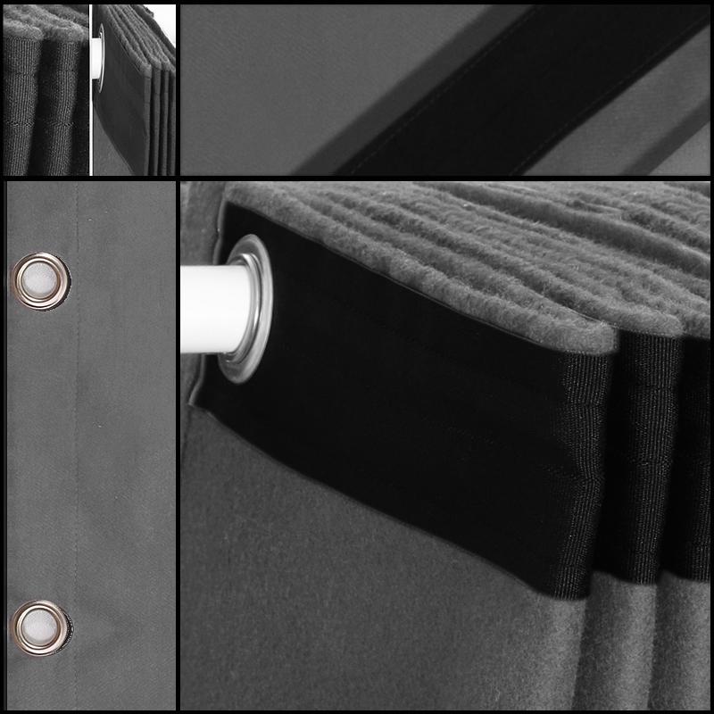 Billede af Molton Bagtæppe med øjer - Grå 10x4 mtr.