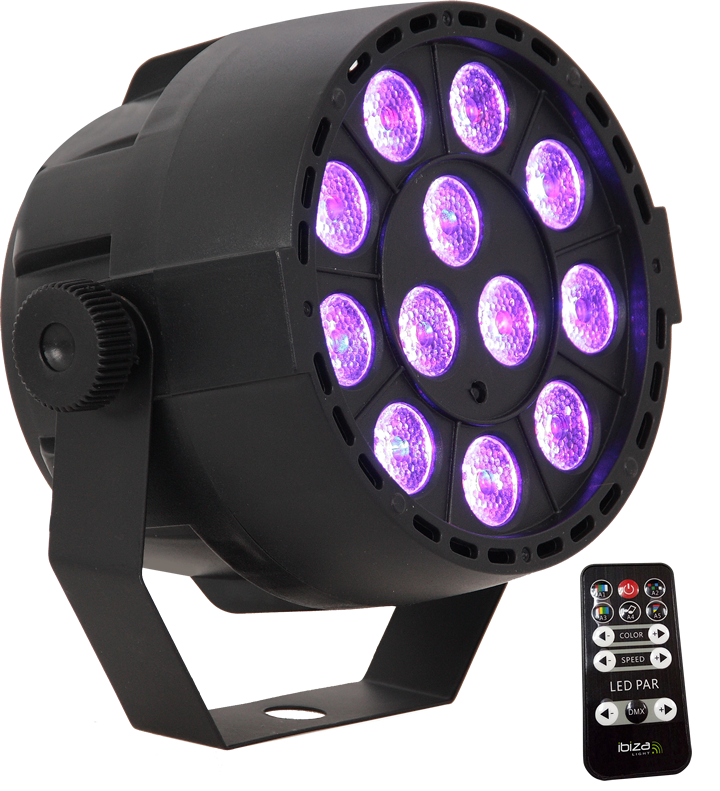 Image of   RECHARGEABLE LED PAR CAN 12x3W 3-in-1 RGB