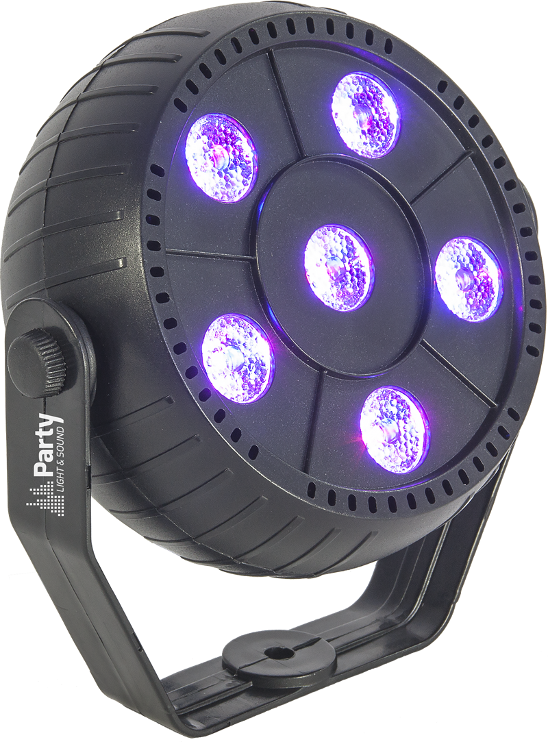 Image of   LED PAR CAN 6 x 1.5W RGB 3-in-1