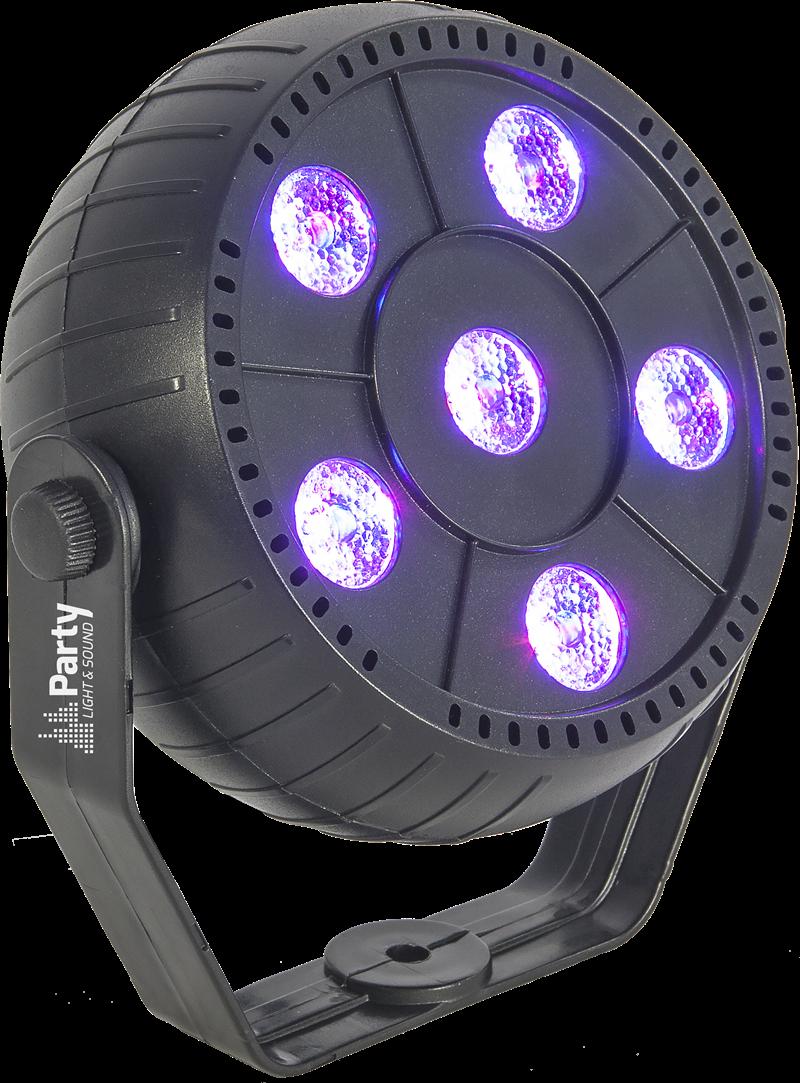 Billede af LED PAR CAN 6 x 1.5W RGB 3-in-1