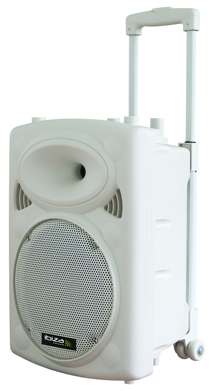 """Image of   PORTABLE STAND-ALONE PA SYSTEM 10""""/25CM WITH USB-MP3, BT, REC, VOX, 1x VHF & 1x WIRED MICROPHONE"""