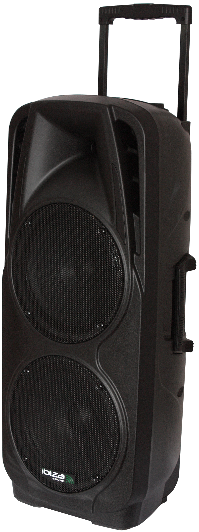 """Image of   PORTABLE STAND-ALONE PA SYSTEM 2 x 10""""/25cm WITH USB, SD, BT, VOX & 2 X VHF MICROPHONES"""