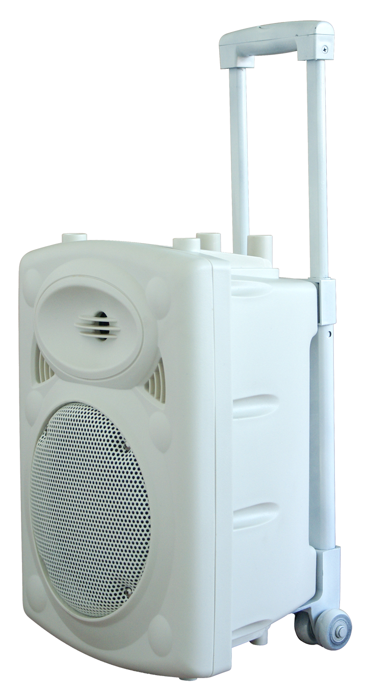 """Image of   PORTABLE STAND-ALONE PA SYSTEM 8""""/20CM WITH USB-MP3, REC, VOX, BLUETOOTH, 1x VHF & 1x WIRED MICROPHO"""