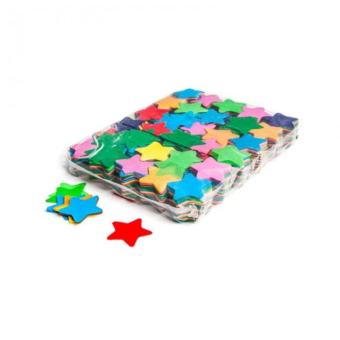Billede af Papir konfetti - Stjerner Blå