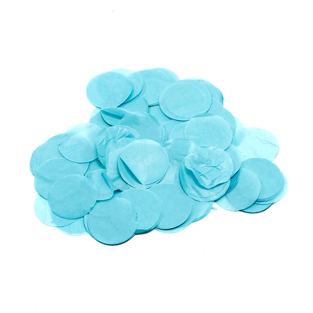 Billede af Papir konfetti - Rund 55 mm. Lys Blå