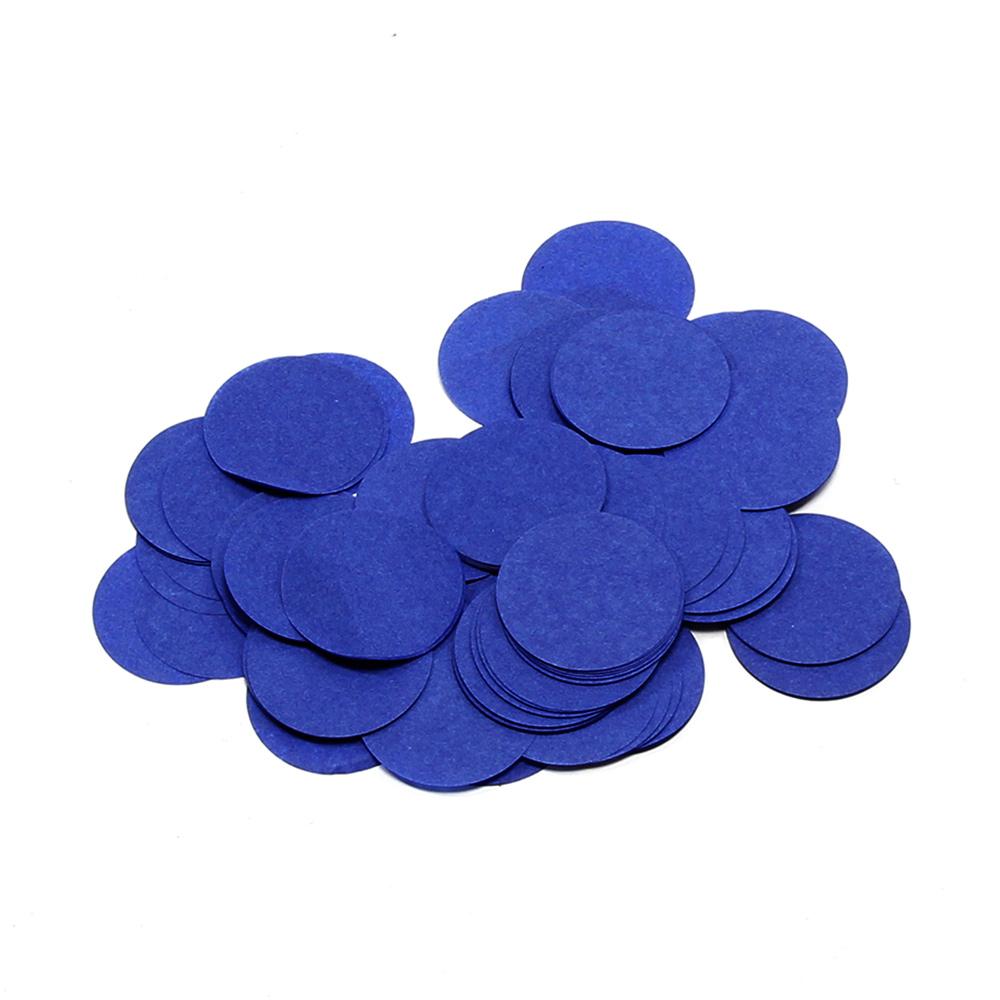Billede af Papir konfetti - Rund 55 mm. Mørk Blå