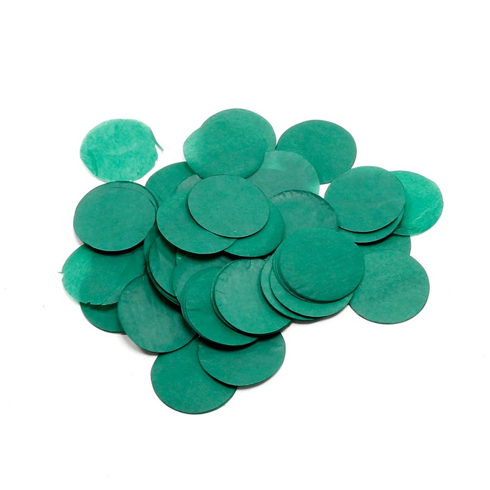 Billede af Papir konfetti - Rund 42 mm. Mørk Grøn
