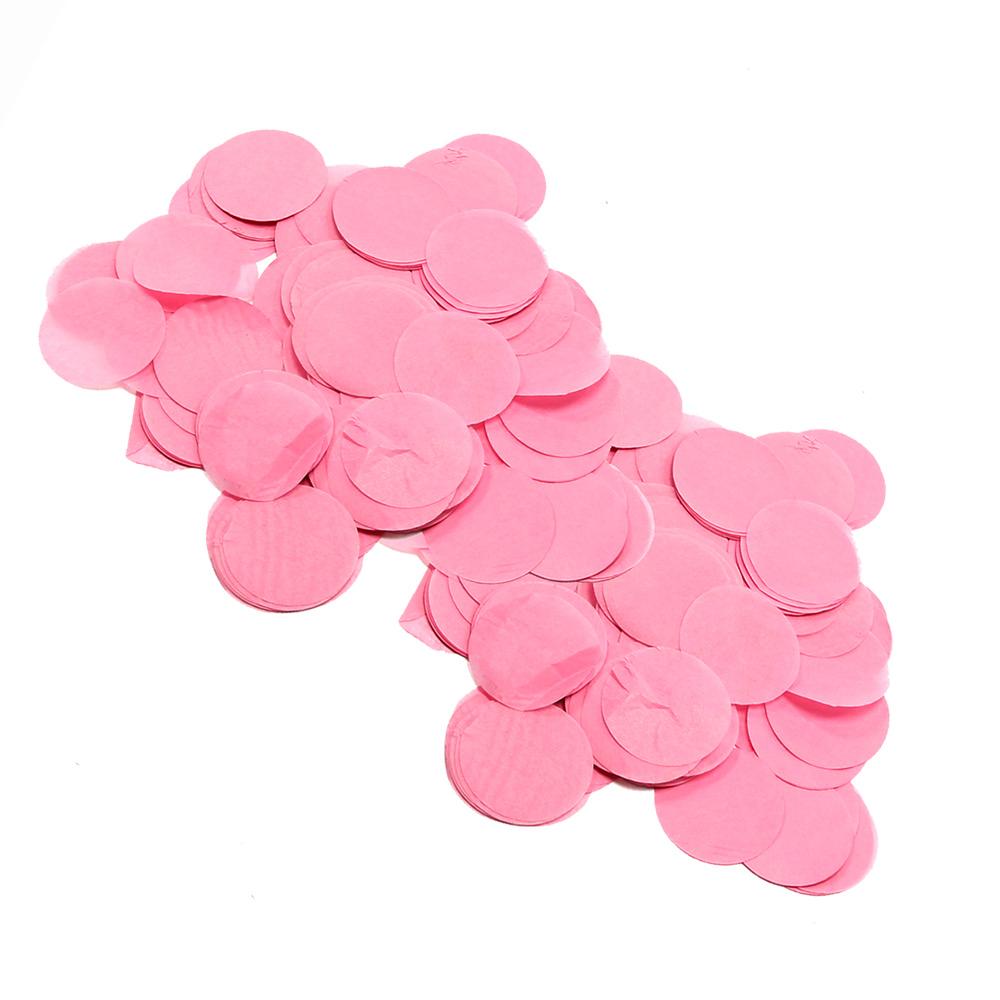 Billede af Papir konfetti - Rund 55 mm. Pink