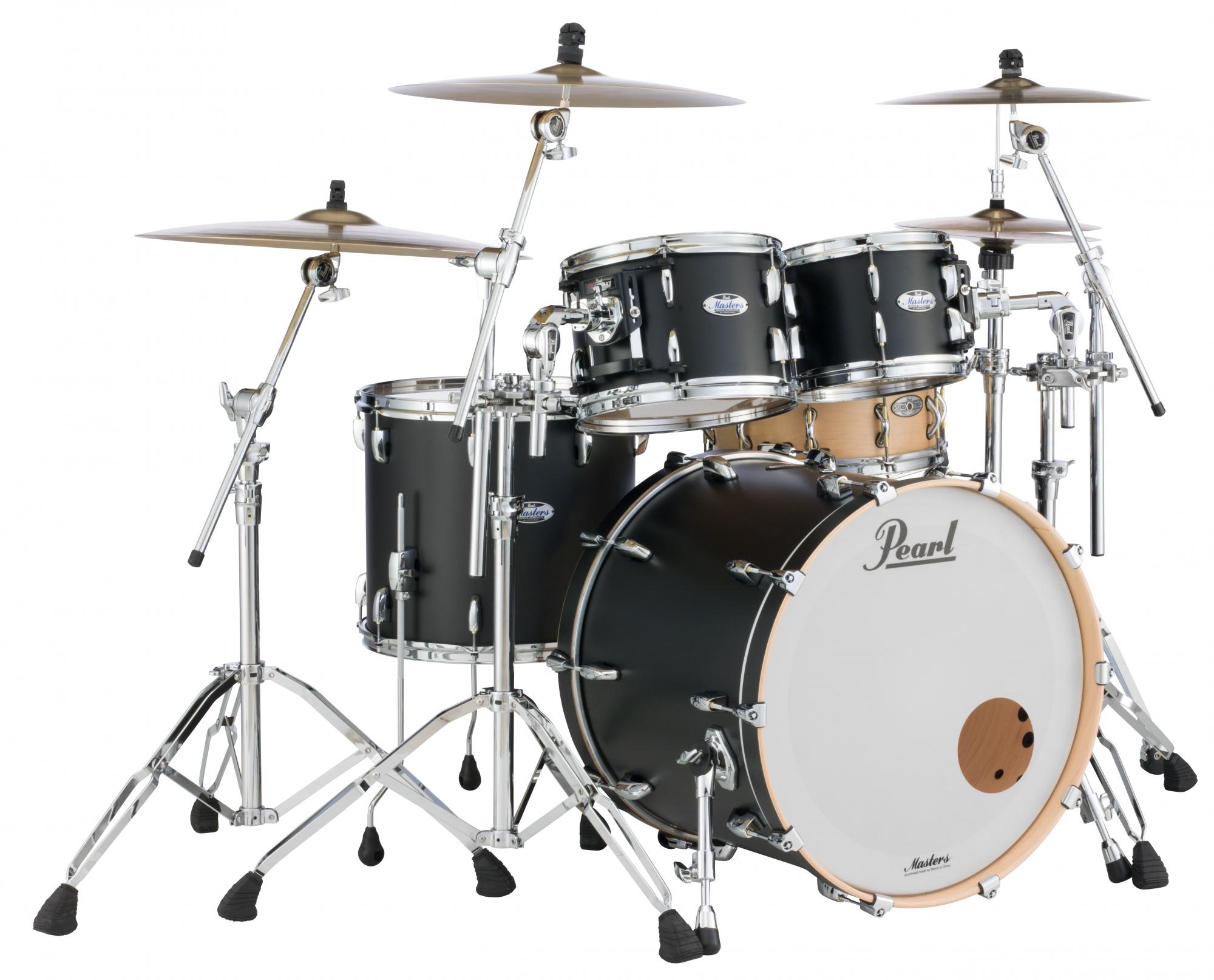 Billede af Pearl Masters Maple Complete Trommesæt Matte Black