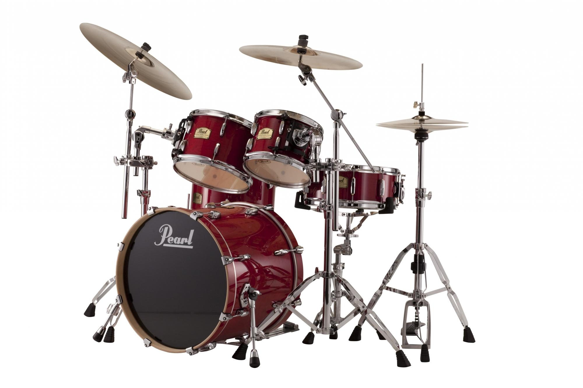 Billede af Pearl Session Studio Classic Rock Trommesæt Sequoia red