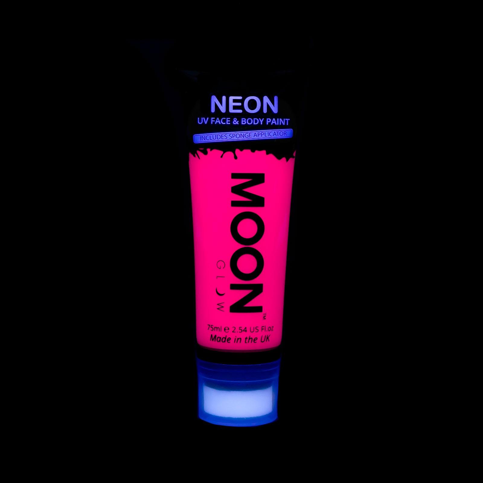 Billede af UV Krops- og ansigtsmaling 75 ml. Pink