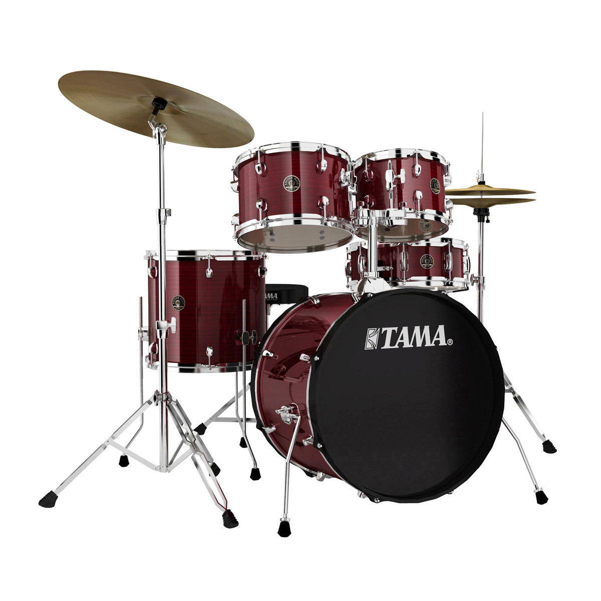 Billede af Tama Rhythm Mate Standard Trommesæt Red Stream