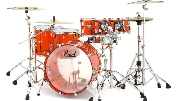 Billede af Pearl Crystal Beat Rock Trommesæt Ruby Red