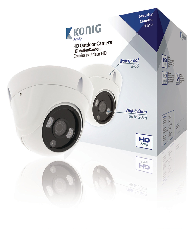 Image of   HD Dome Cctv Kamera IP66 Hvid