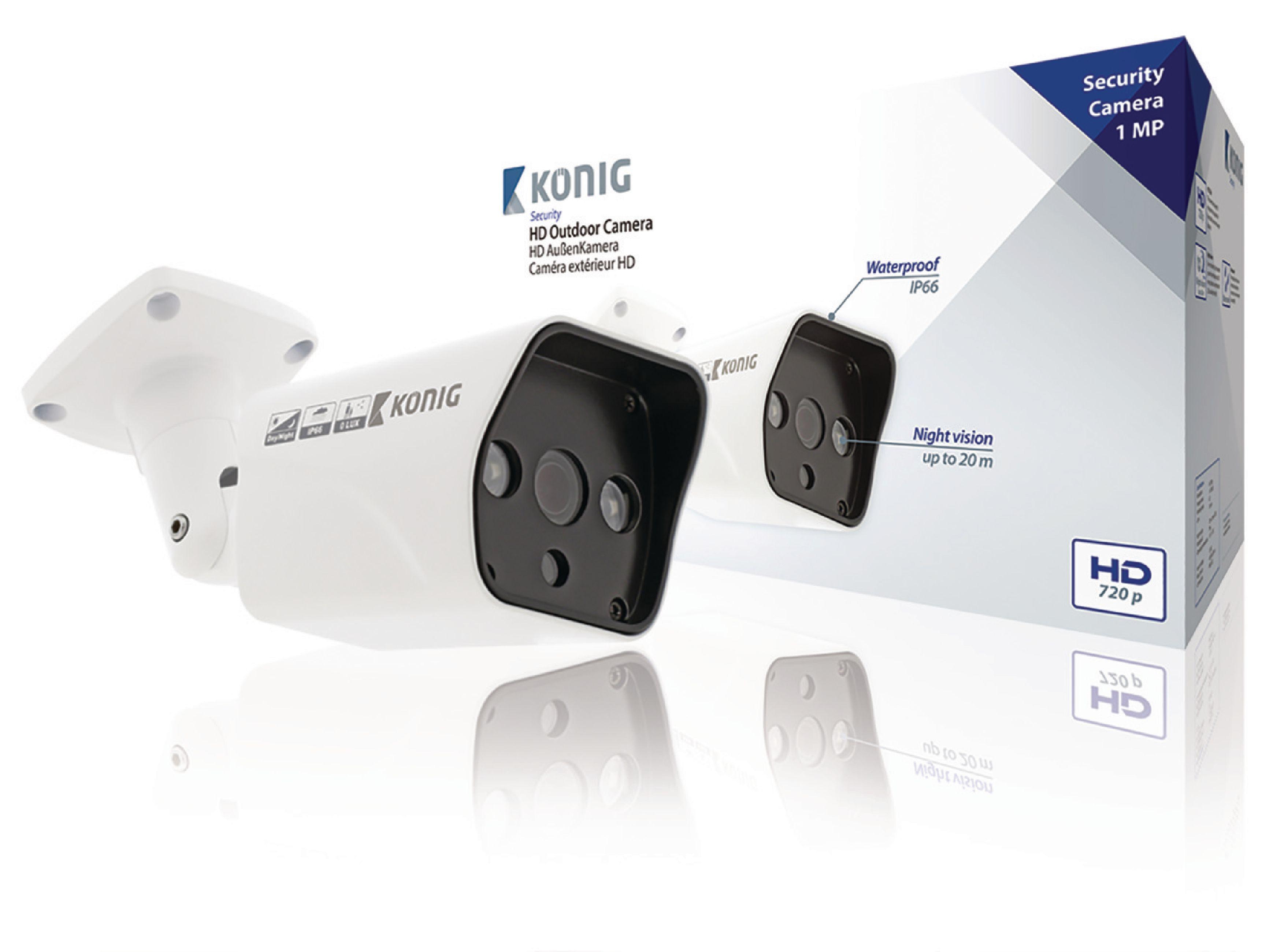 Image of   HD Patron Cctv Kamera IP66 Hvid
