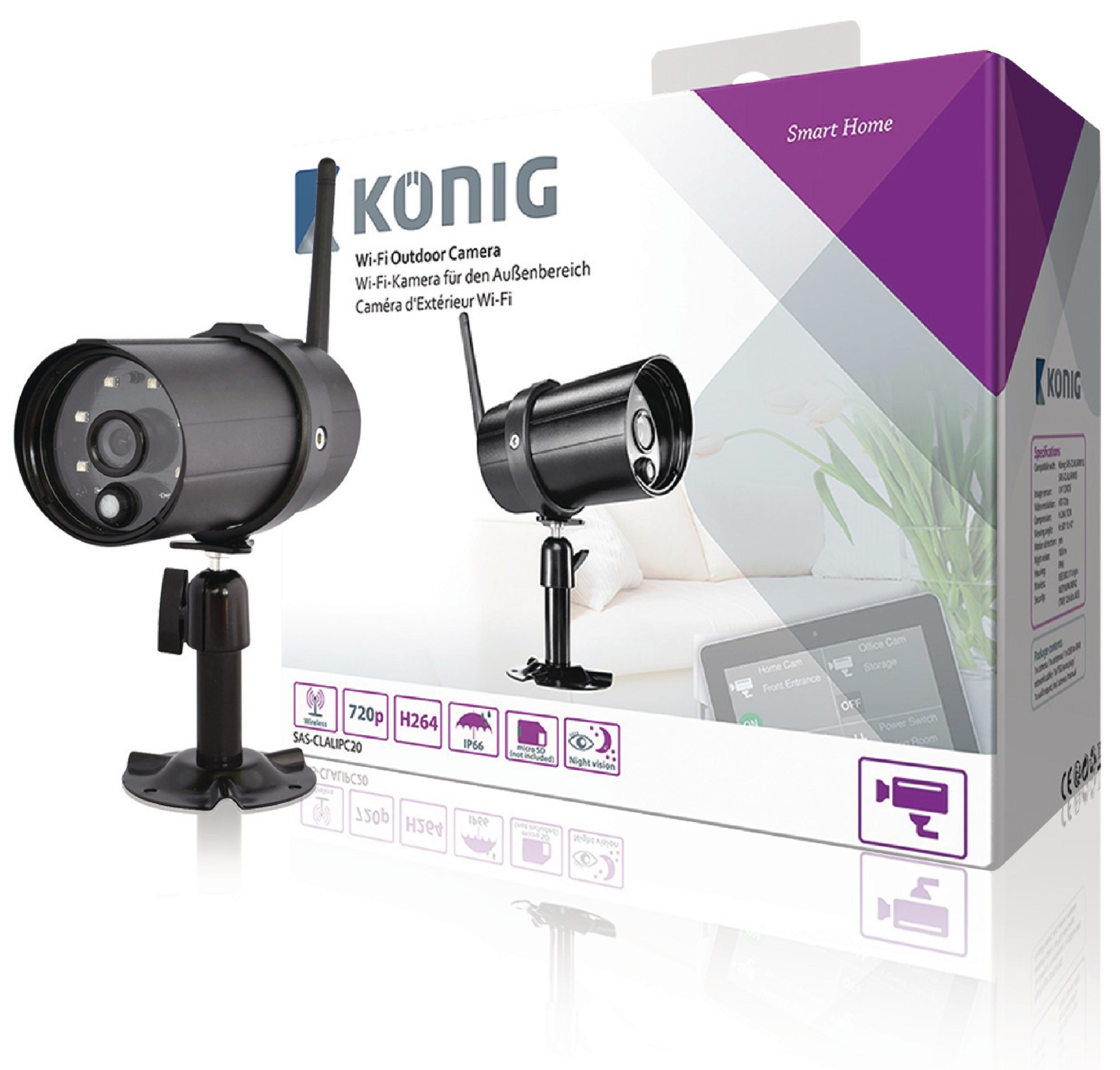 Image of   HD Smart Ip-Kamera Udendørs 720P
