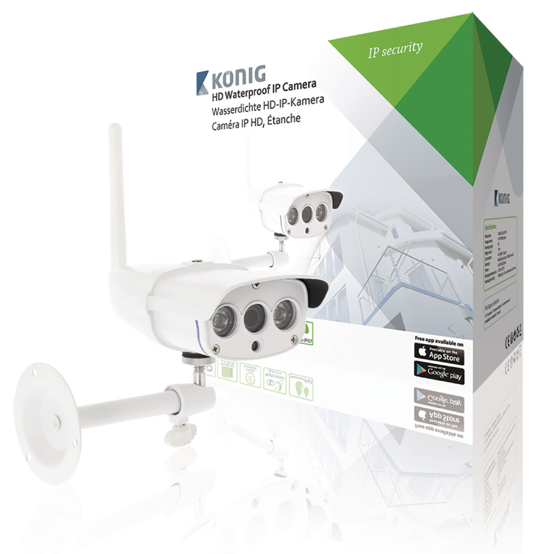 Image of   HD Fast Ip-Kamera 1280x720 Udendørs Hvid