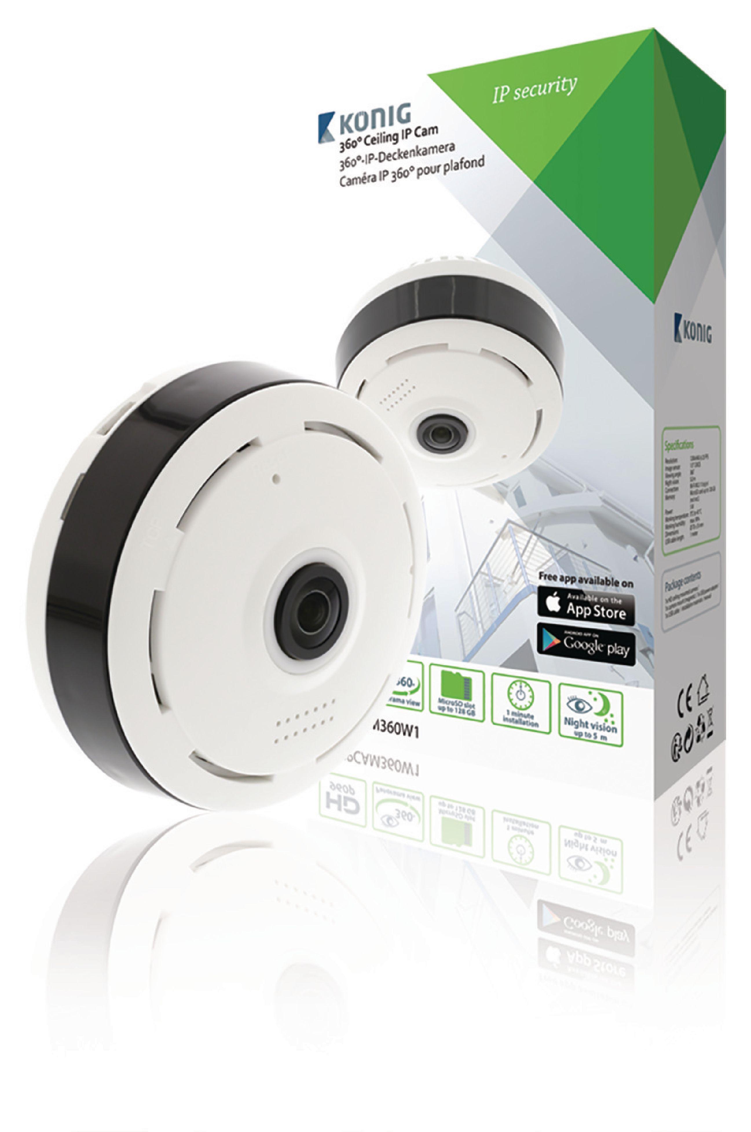 Image of   HD Fast Ip-Kamera 1280x960 Panorama Hvid/Sort