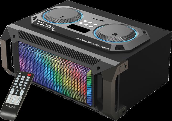 Billede af Ibiza sound transportabel 2.1 lydsystem med bluetooth, USB, SD og FM radio