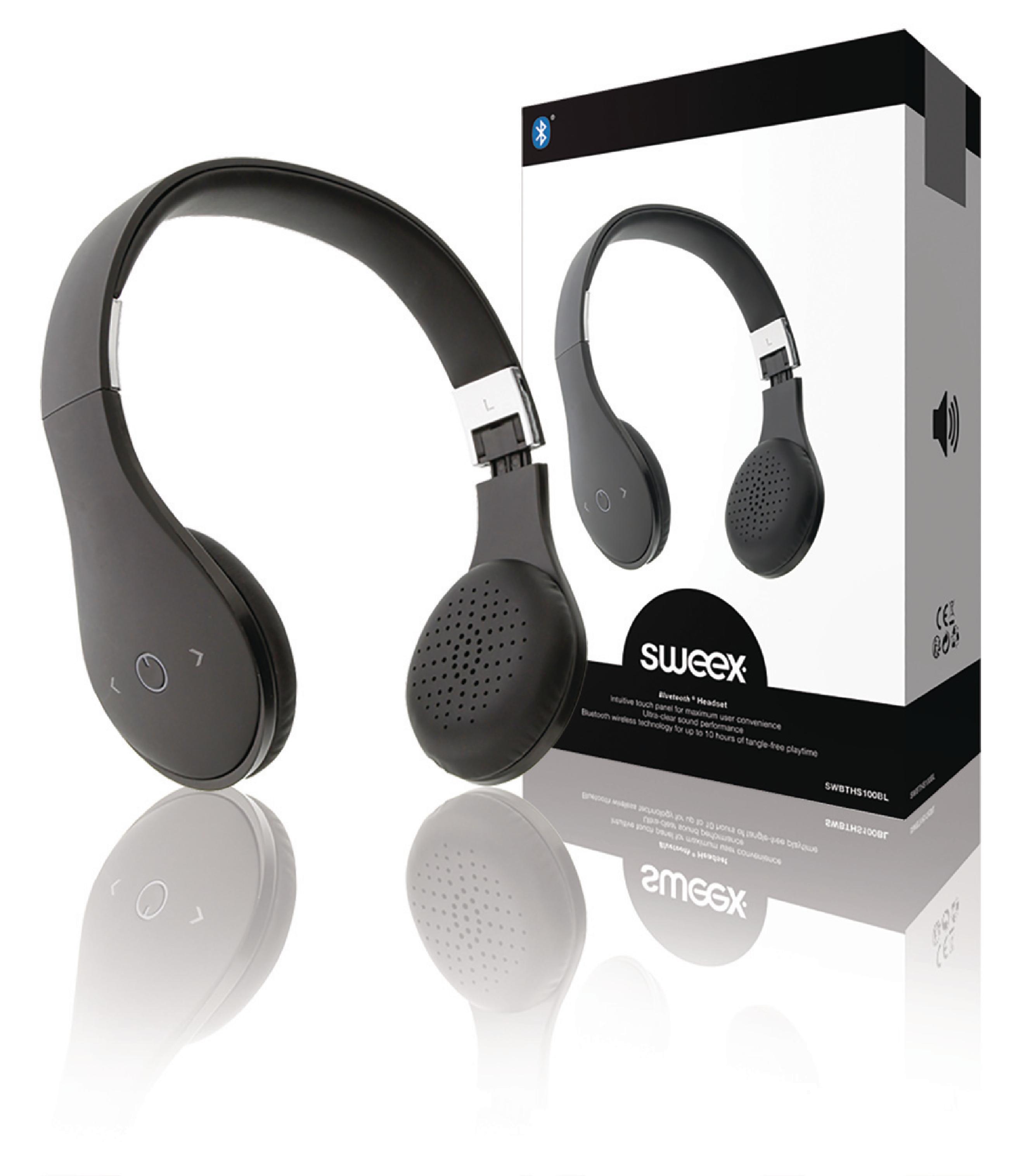 Image of   Headset On-Ear Bluetooth Indbygget Mikrofon Sort