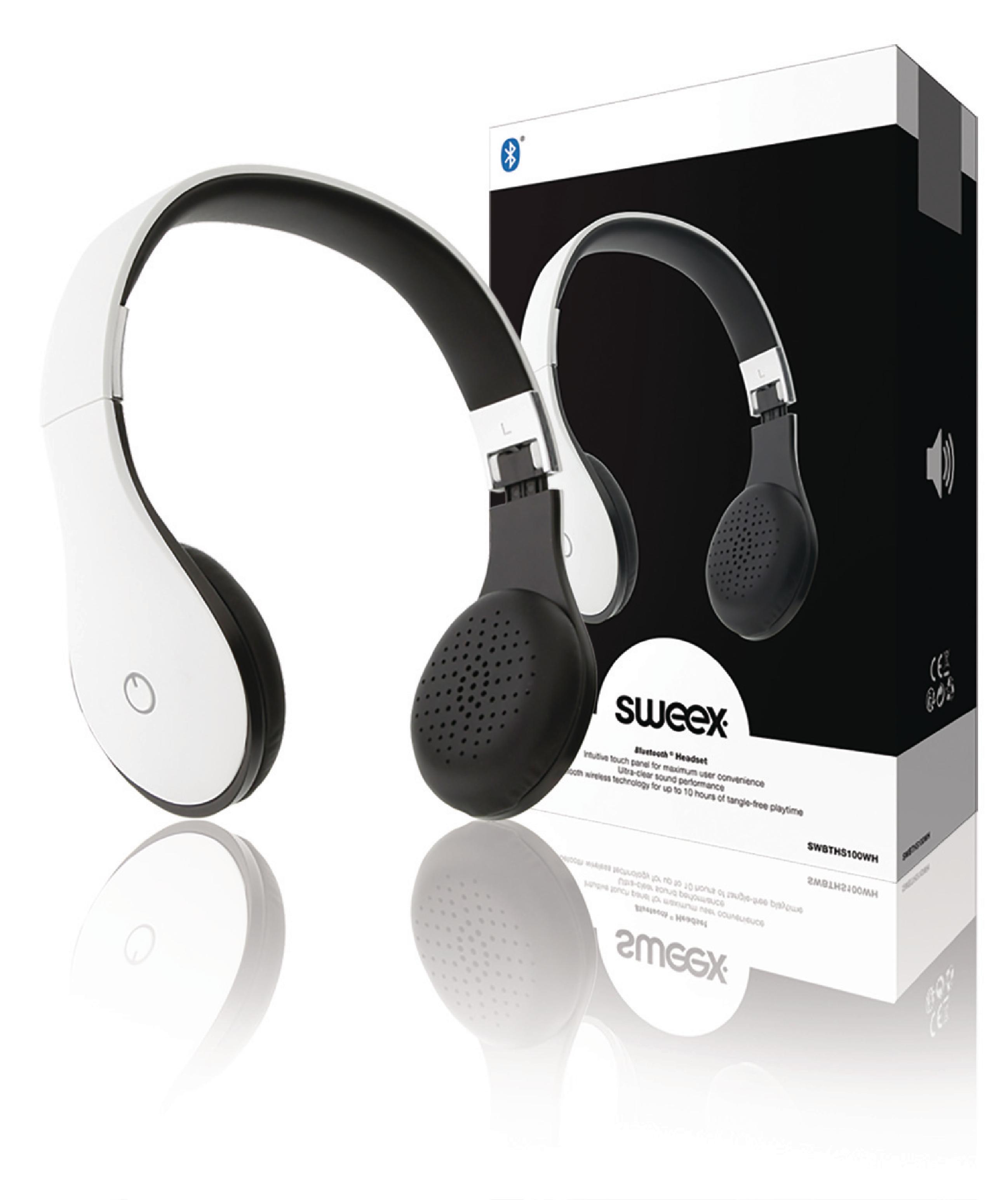 Image of   Headset On-Ear Bluetooth Indbygget Mikrofon Hvid