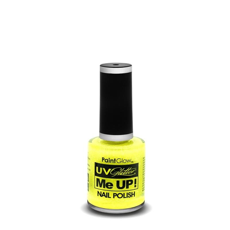 Billede af Neon UV Glitter neglelak Sherbet Lemon