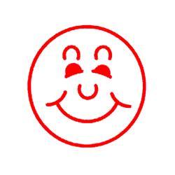 Billede af Stempel med blæk Glad smiley