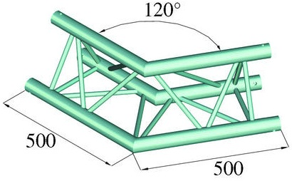 Image of   Alutruss TRILOCK 6082AC-22 2-way corner 120°