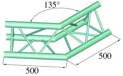 Image of   Alutruss TRILOCK 6082AC-23 2-way corner 135°