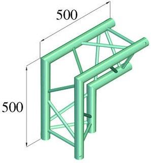 Image of   Alutruss TRILOCK 6082AC-25 2-way corner 90° \/