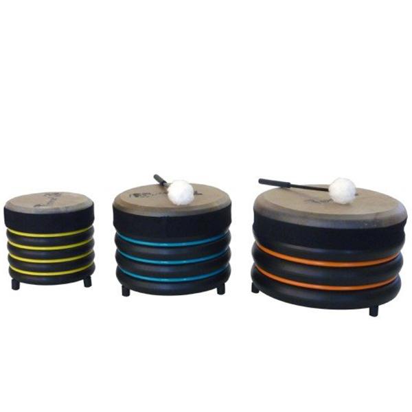 Billede af Trommus Håndtrommer skolesæt med 3 trommer (E5u)
