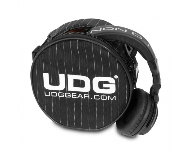 Billede af UDG Ultimate Headphone Bag Black/Grey Stripe U9960BG