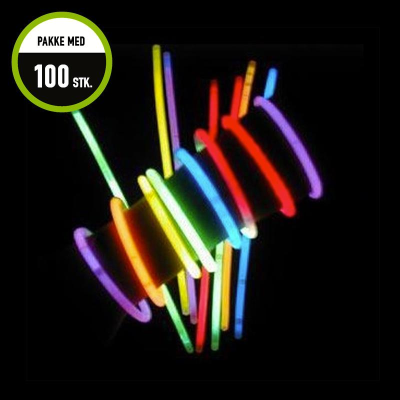 Billede af Knæklys armbånd, blandede farver, 100 stk