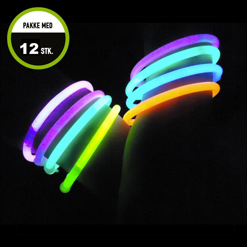 Billede af Knæklys armbånd, blandede farver, 12 stk