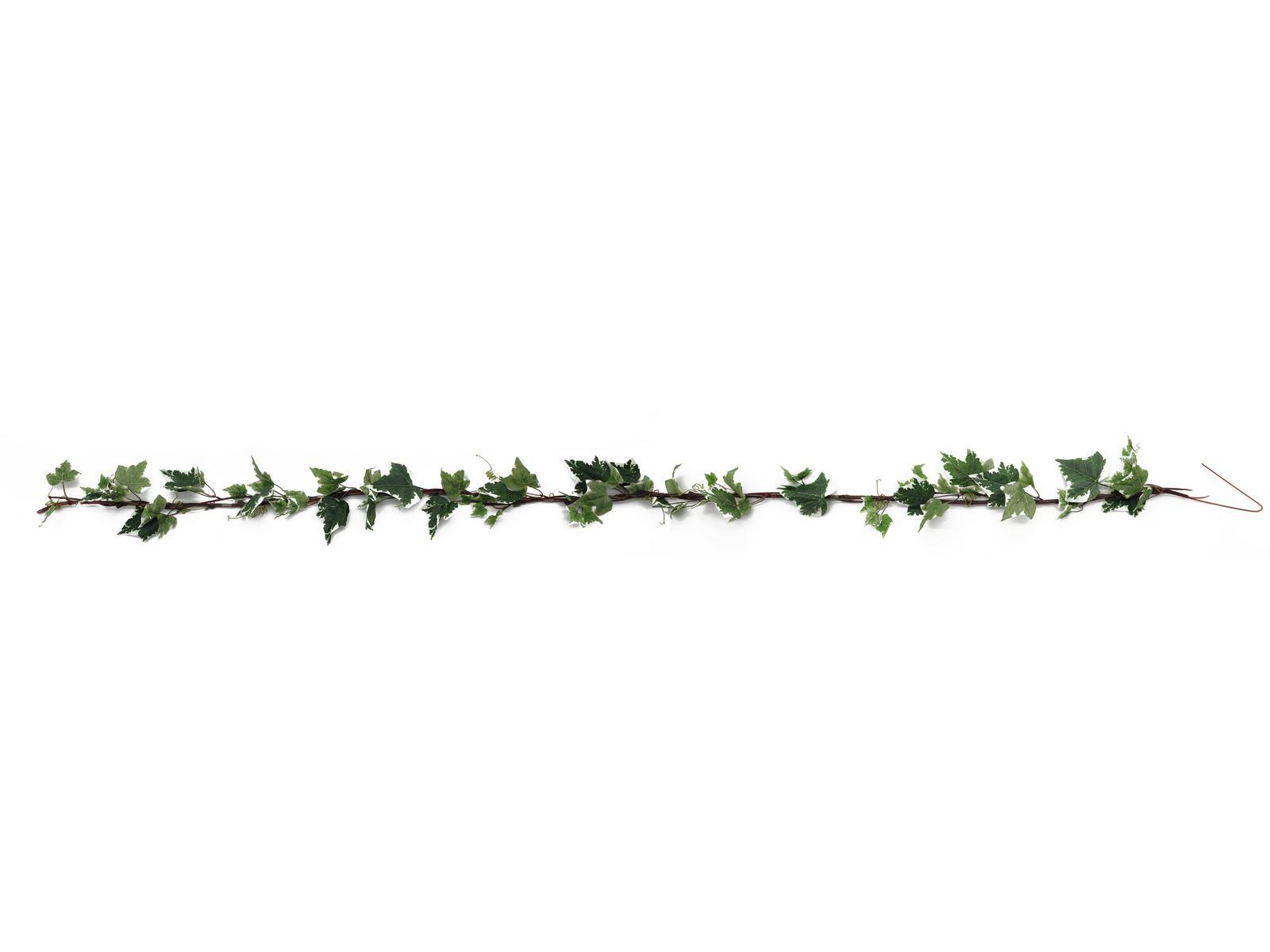 Billede af Kunstig Ivygarland, green-white, 350cm