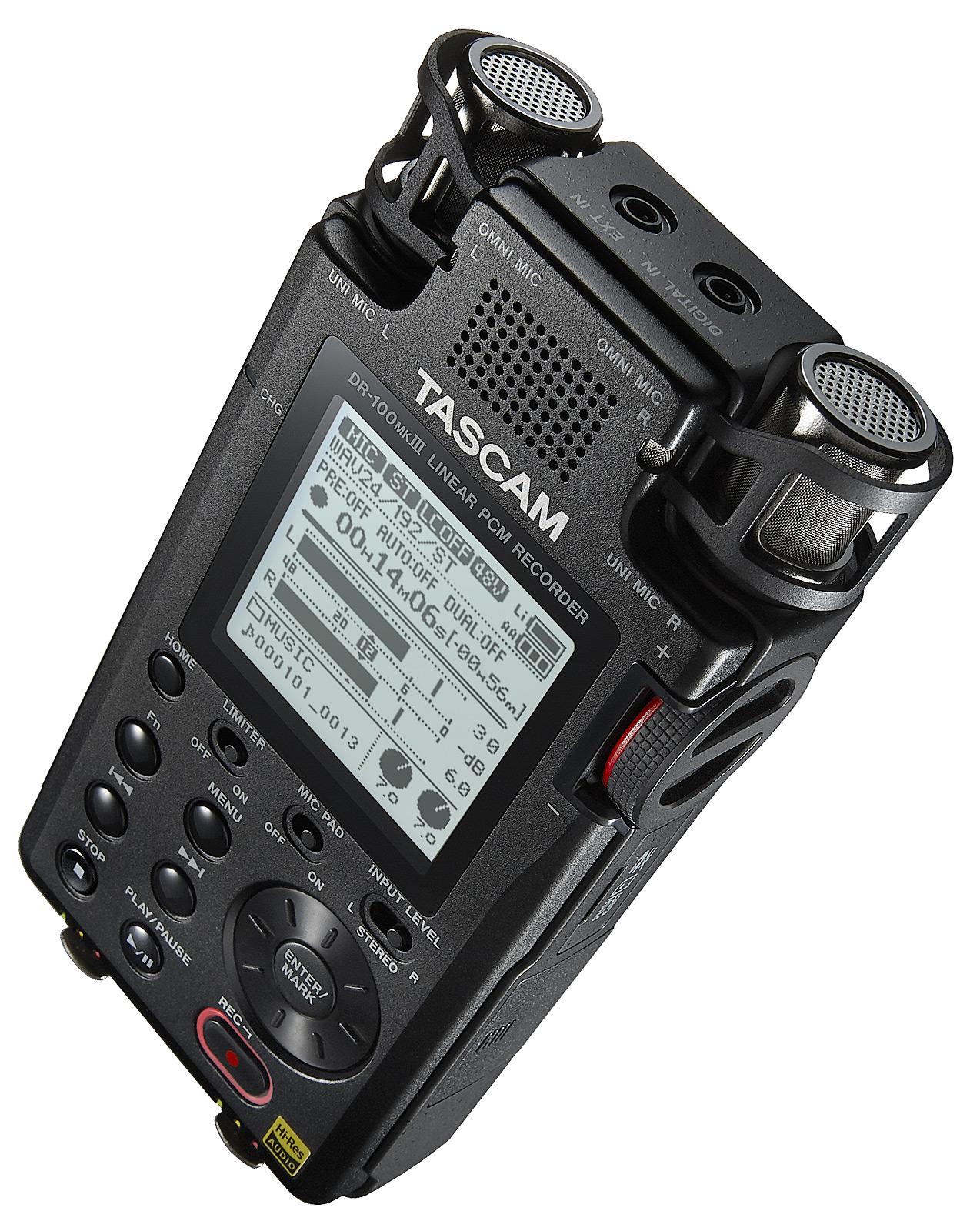 Billede af Tascam DR-100MK3 håndholdt stereo optager