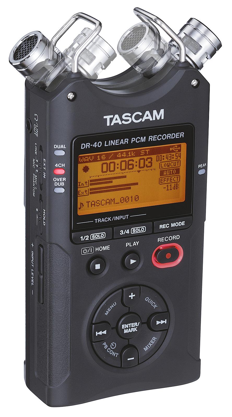 Billede af Tascam DR-40V2 håndholdt stereo optager