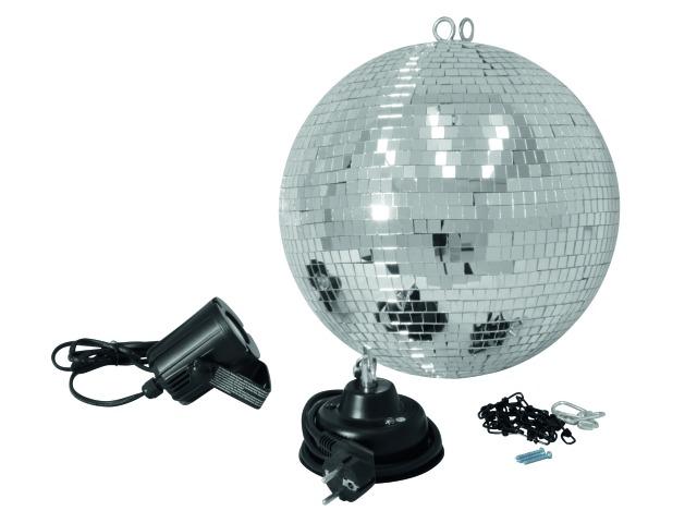 Billede af Komplet LED 30 cm spejlkugle sæt
