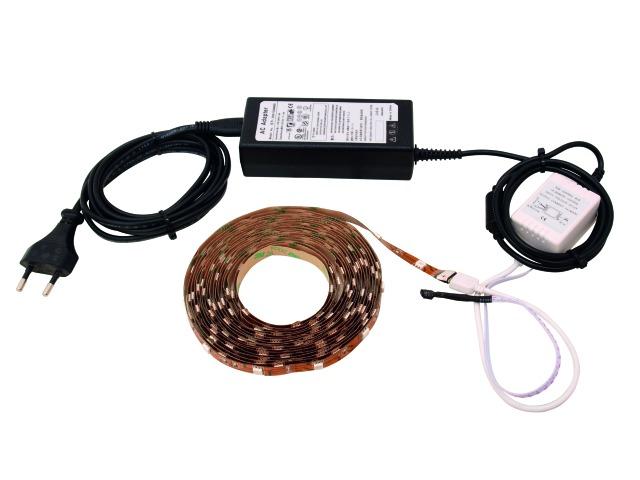 Billede af LED Ribbon blister set 5m RGB SMD 5050 - Eurolite