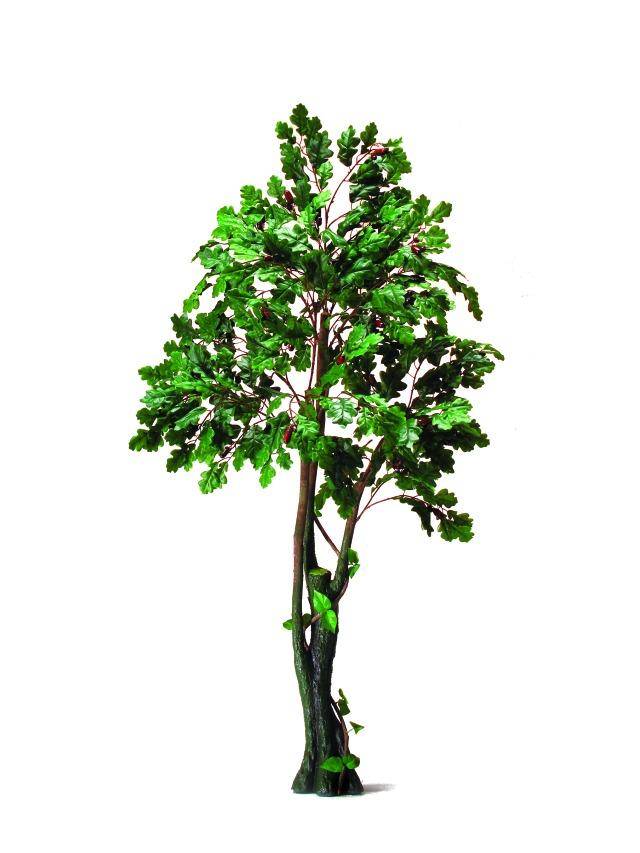 Billede af Kunstig Oak Forest Tree, 180cm