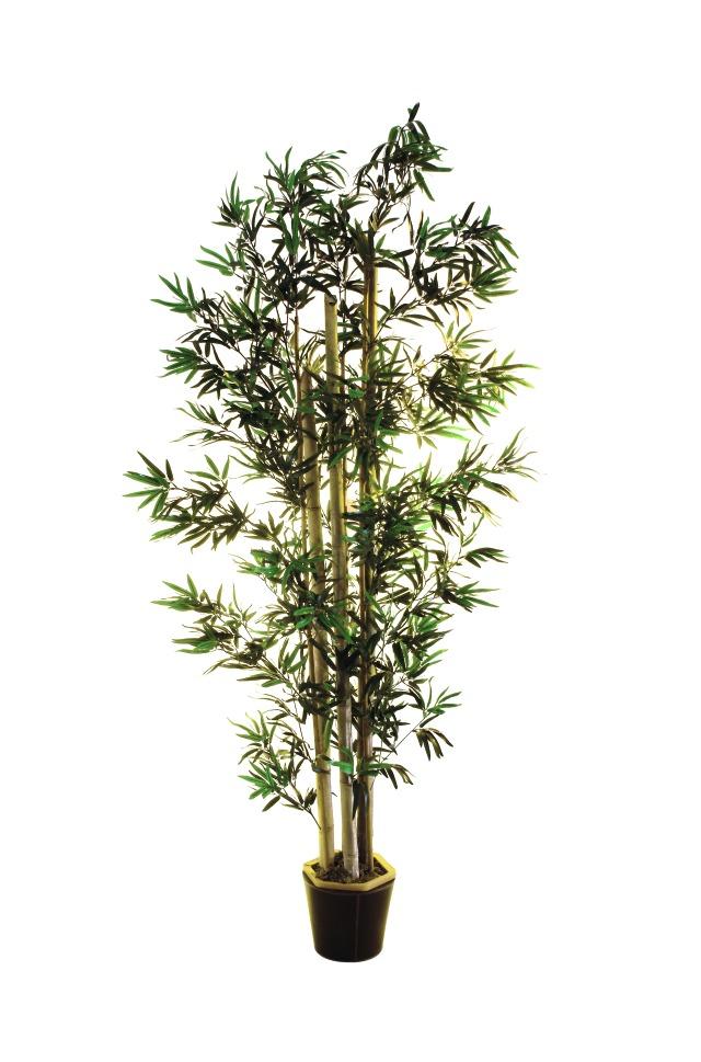 Billede af Kunstig Bambus m. naturlige stammer, 205 cm