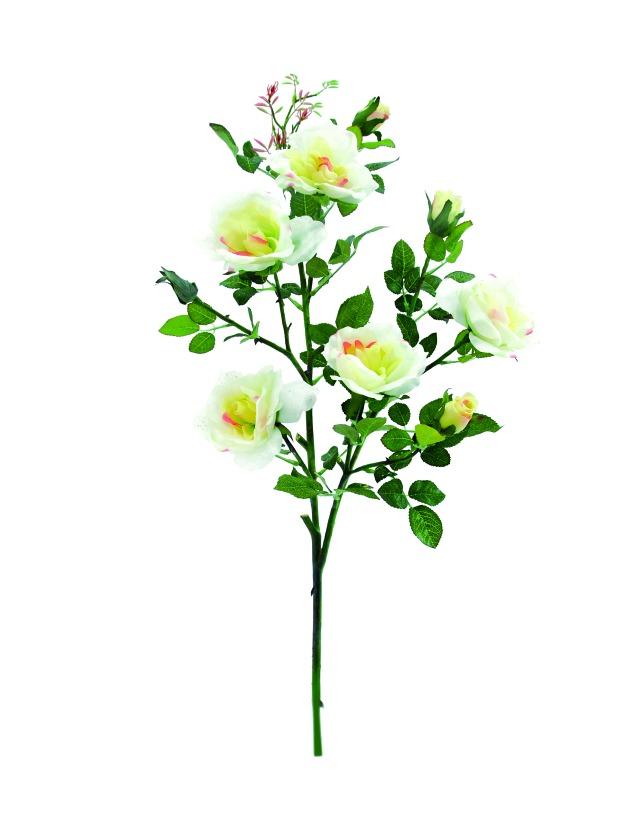 Billede af Kunstig Rosebranch, white, 90cm