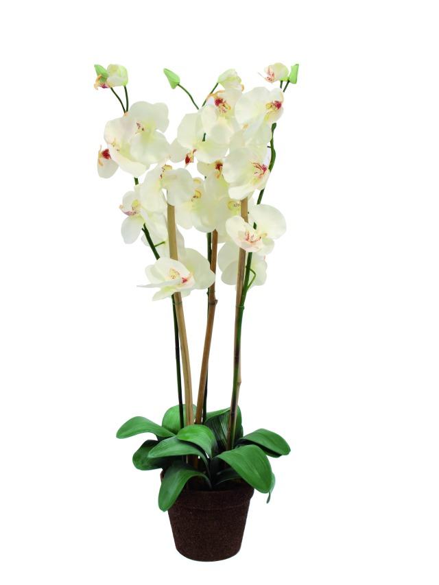 Billede af Kunstig Orchid, white, 80cm