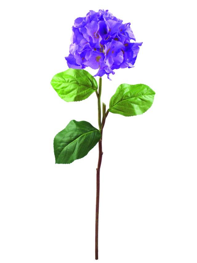 Billede af Kunstig Hydragenaspray, lavender, 76cm